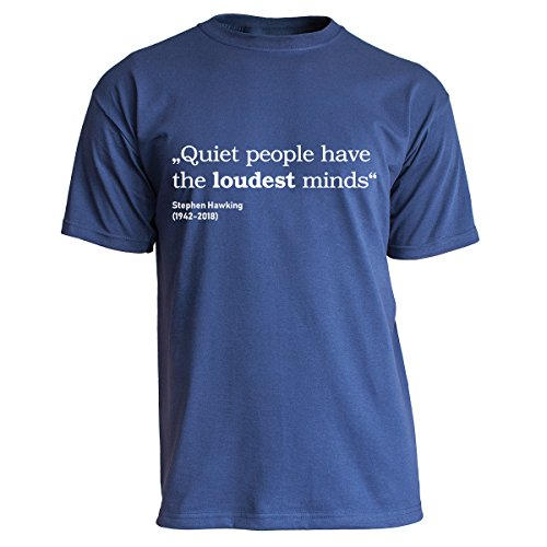 Nukular T-Shirt Quiet People - Stephen Hawking, Farbe Navy, Größe XL
