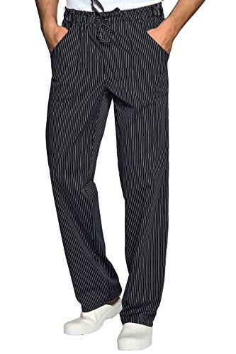 ISACCO Pantalon avec élastique Vienna Noir, Taille M, 65% Polyester, 35% Coton, 160 g/m²