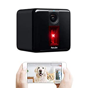 Petcube [2017 Item Play Smart Pet Camera with Interactive Laser Toy. Remote Dog/Cat Monitoring with HD 1080p Video, Two-Way Audio, Night Vision, Sound/Motion Alerts. App-Enabled Pet and Home Safety