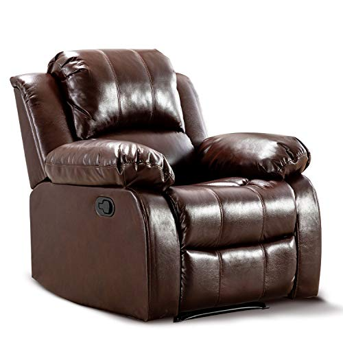 Bonzy Home Air Leather Recliner Chair Overstuffed Heavy Duty