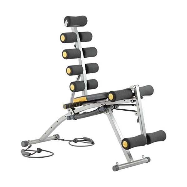 Rock-Gym–Banc-de-Musculation-6en1-avec-lastiques-Adulte-Unisexe–Coloris-NoirOrange