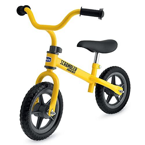 Chicco Ducati Scrambler Bicicletta Bambini Senza Pedali 2-5 Anni, Bici Senza Pedali Balance Bike per Equilibrio Bimbo e Bimba, Sellino e Manubrio Regolabili, Max 25 Kg, Giallo - Giochi 2-5 Anni
