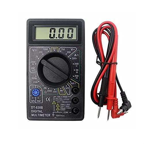 DT830B LCD-skärm Digital Multimeter Voltmeter Ammeter Ohmmeter DC10V ~ 1000V 10A 750V Tester Test 1PCS (Color : DT830B)