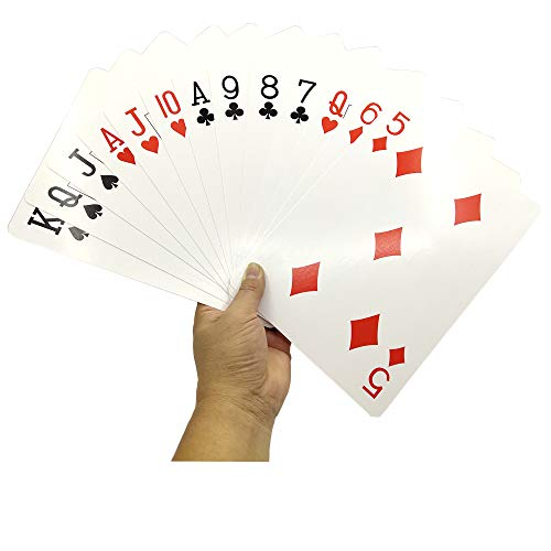 Arlai Playing Cards - Humongous Cards 6.6x9.4 inches, Large Print - Poker Full Deck of Cards