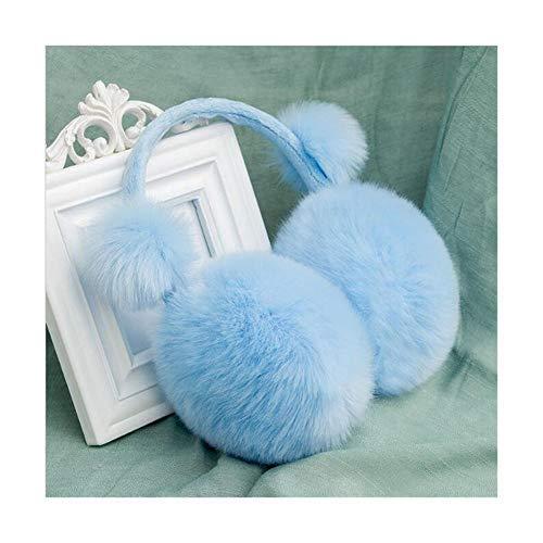 ZLININ Y-longhair verstellbare Ohrenwärmer für den Winter, Plüsch-Ohrenschützer für Kinder, Winter-Ohrenschützer aus Kunstfell, Ohrenschützer für Mädchen, Jungen, Babys, Erwachsene (Farbe: Himmelblau)