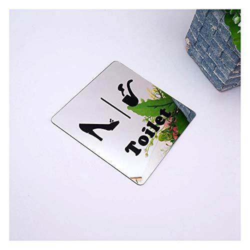 Shuzi 10cm wc bord gespiegeld wc indicatie tekens voor mannen vrouwen vorm hoge hakken tabak pijp 3D acryl spiegel muur stickers teken