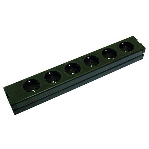 Omnitronic 30240080 aluminium stekkerdoos (6-voudig)