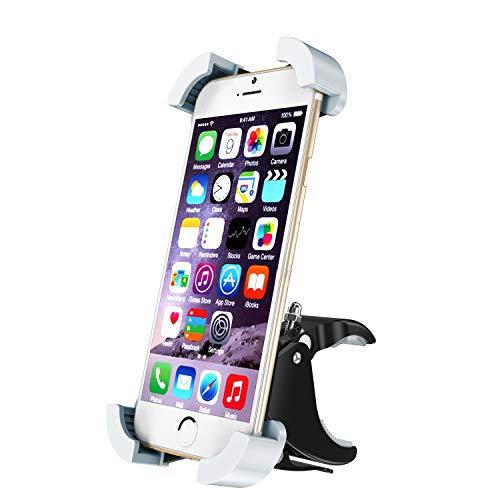 HelloToday Soporte Universal para teléfono móvil de Motocicleta y Bicicleta, Soporte para Manillar y Motocicleta para iPhone XS MAX XR X 8 7 6 Plus, Samsung Galaxy S10+ S10 S9 S8 S7 Note 9 8, Nexus