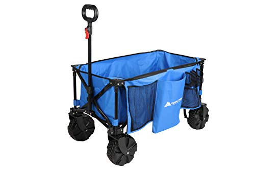 Ozark Trail All-Terrain Wagon with Oversized Wheels, Blue