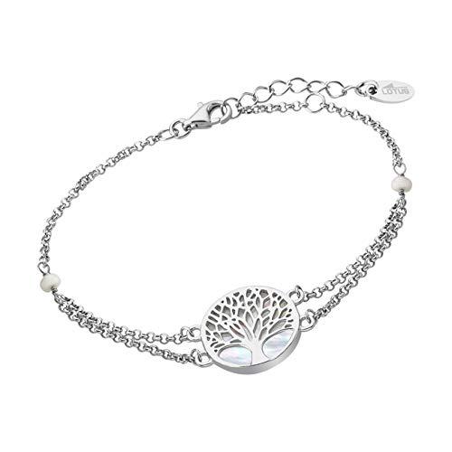 LOTUS Silver Pulsera de árbol de la vida LP1678-2/1 para mujer, plata de ley JLP1678-2-1