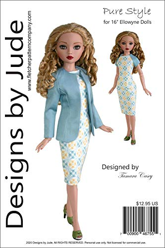 Pure Style Doll Clothes Sewing Pattern for 16' Ellowyne Wilde Dolls Tonner