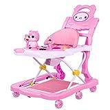 Andador para bebés con asa de Juego extraíble Bandeja de música 4 en 1 Andador para bebés Alturas de reposapiés Andador para bebés Plegable Ajustable
