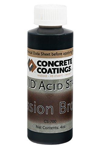 VIVID Acid Stain - 4oz - Mission Brown (Rich, Medium Rusty Brown)