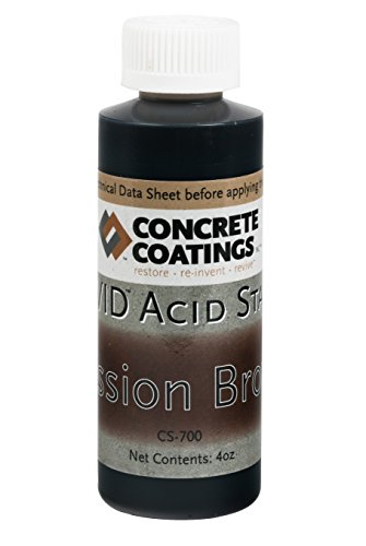 VIVID Acid Stain - 4oz - Mission Brown (Rich, Medium Rusty Brown)