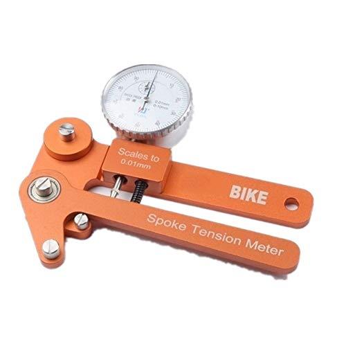 Tensión de los radios balanza digital Probador de 0,01 mm radios de bicicletas metro del indicador de tensión de ruedas de bicicletas tensiómetro constructores de herramientas para Medición de Radios