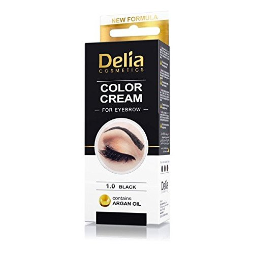 DELIA HENNA/COLOR CREAM EYEBROW PROFESSIONAL TINT KIT SET Black