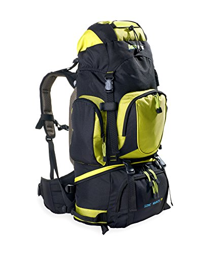 AspenSport Long March 70, Zaino Unisex, Nero/Verde, 45 x 80 x 32 cm