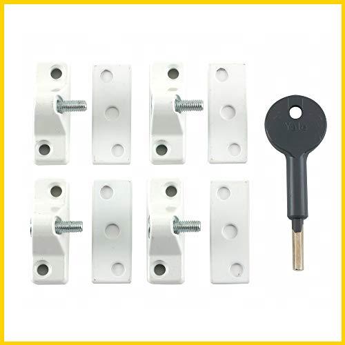 Yale Locks 8K118 Ergot de sécurité fenêtre Visi Blanc Pack économie/lot de 4 (Import Grande Bretagne)