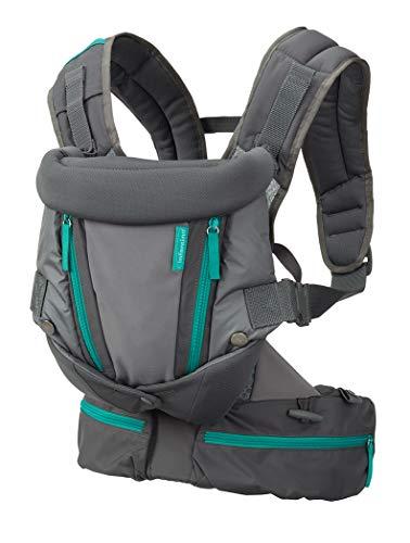 Infantino Carry On Multi-Pocket Babytrage – Ergonomische Babytrage mit 3 Tragepositionen – Für Säuglinge und Kleinkinder von 3,6-18,14 kg