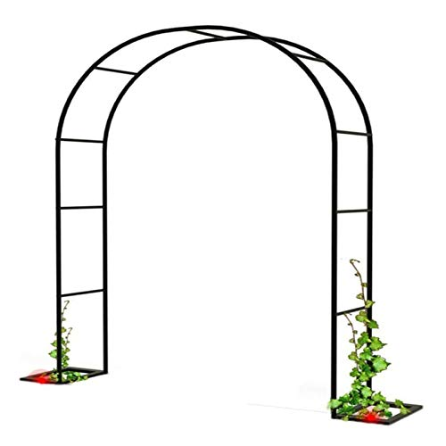 XDJ Metal Arco De Jardín, Ayudar A Escalada Plantas Pérgola, Varias Escaladas Planta Rimming De Jardín Boda Nupcial Arco De Jardín, Ensamblaje Blanco Negro (Color : Black, Size : 260cm)