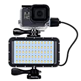 Suptig 60 LED Video Light with 5200mAh Portable Charging Battery, Portable Photography Lighting Waterproof 164ft, Dimmable Light Compatible for Gopro Hero 9 Hero 8 Hero 7 Black Hero 5 Hero 6 Hero 4