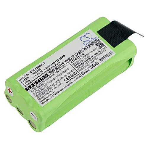 CS - Batería de Ni-MH (1800 mAh, 25,92 Wh, compatible con Dirt Devil Libero M606, Libero M606-1, Libero M606-2, Libero M606-3, Libero M606-4, sustituye a Dirt Devil 0607004)