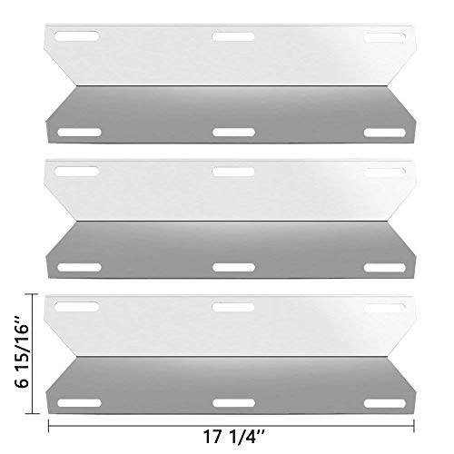 SHINESTAR Grill Replacement Parts for Charmglow Home Depot 3 Burner 720-0036-HD-05, 720-0230, for Nexgrill 720-0025, Kirkland, Sterling Forge, Stainless Steel Heat Shields Plates Flame Tamers
