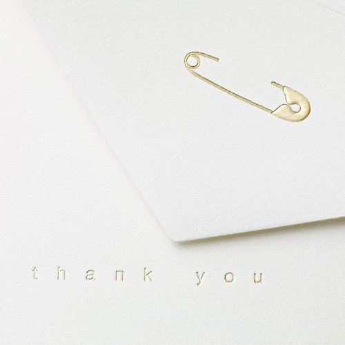 Crane & Co. Diaper Pin Thank You Note (CT1337), Pack of 10 Photo #2