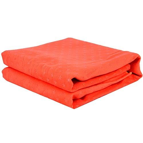 ZNQPLF Non Slip Cotton Yoga-Matten-Teppich Harz Handtuch Decke Schweißabsorbierendem Sweat Wipe-Tuch for Sport Fitness Übung Pilatus Supplies (Color : Orange)