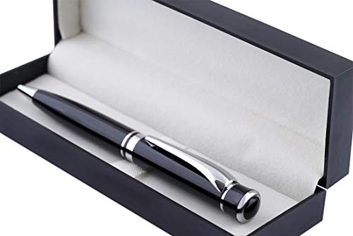 COI Black Full Pen Set with Blue Ink and Executive Use Roller Point Pen. (Nature Black)