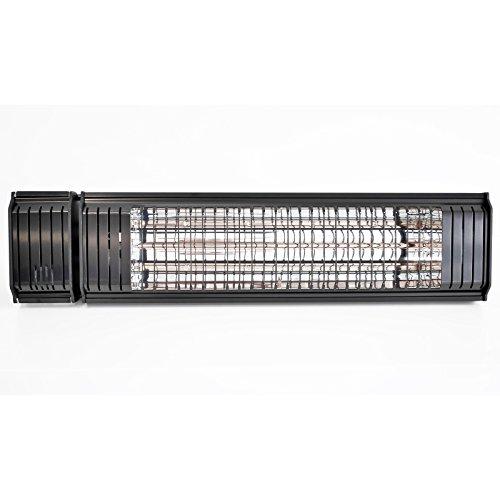 VASNER Infrarot Heizstrahler Appino 20 schwarz, 2000 Watt, Terrassenstrahler mit AirCape Abdeckhaube für Außenbereich, Fernbedienung, App-Bedienung - 3