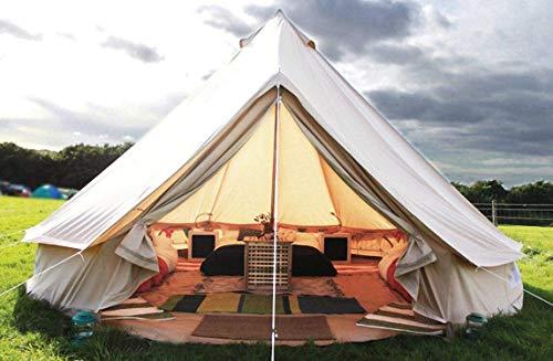 FANQIE Pyramide Ronde de Bell Tente en Toile Yourte Tente avec Zippé pour la Famille Groundsheet Camping en Plein air,A