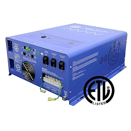 AIMS Power 4000 W / 12000W Peak Pure Sine Inverter Charger 24Vdc/240Vac Input to 120/240Vac Split Phase Output UL 458/1012/1741 CSA