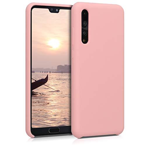 kwmobile Funda Compatible con Huawei P20 Pro - Carcasa de TPU para móvil - Cover Trasero en Rosa Oro Mate