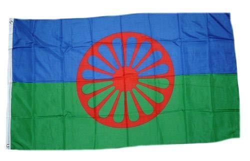 Sinti Roma Zigeuner Fahne Flagge Grösse 1,50x0,90m - FRIP -Versand®