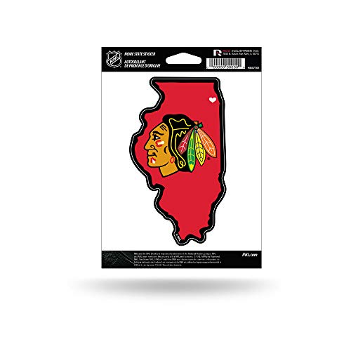 NHL Rico Industries Home State Sticker Chicago Blackhawks