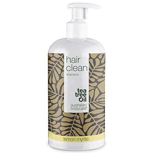 Australian Bodycare Champú Tea Tree Oil para cabello seco 500ml | Aceite árbol de té y mirto limón | Anticaspa y picazón | Cuidado de cuero cabelludo para psoriasis, eczema, neurodermatitis y Granos