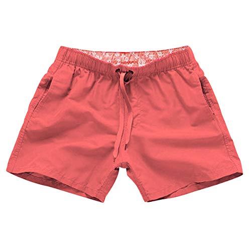 Bañador Natacion Hombre Bañadores Hombre Cortos Traje de Baño Trajes de Baño para Hombres Bañador Pantalon Piscina Surf Playa Caballero Deportivo Pantalonetas Short de Baño Hombre Corto Rosa XL