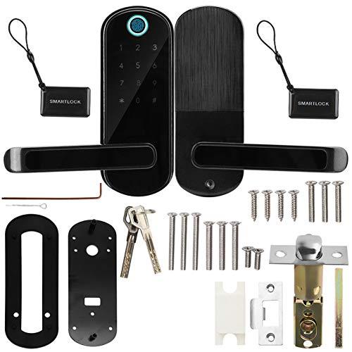 Cerradura de puerta inteligente, panel de aleación de aluminio de manija de puerta de cerradura inteligente para oficina para hogar para apartamento