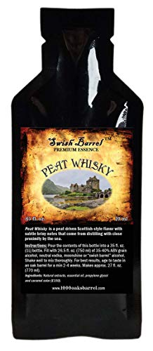 Peat Whisky Flavor Premium Essence | Bootleg Kit Refills | Thousand Oaks Barrel Co. | Gourmet Flavor for Cocktails Mixers and Cooking | 20ml .65oz Packet