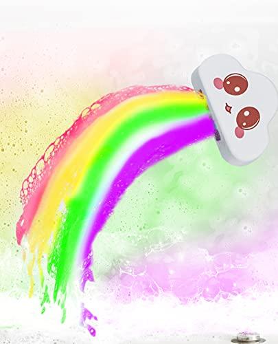 Juego de regalo de bomba de baño arcoíris, 1 bolas de baño grandes (180 g cada una) con ingredientes naturales, regalo de cumpleaños para el día de la madre/ cumpleaños/ Navidad/ niños/ mujeres/ mamá