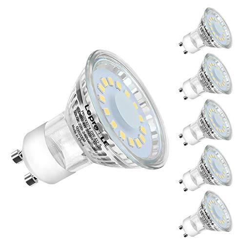 Lepro GU10 LED Lampe, 4W 350 Lumen LED Leuchtmittel, 5 Stück, ersetzt 50W Halogenlampen, 5000 Kelvin Tageslichtweiß, 120 Grad Abstrahlwinkel Reflektorlampe