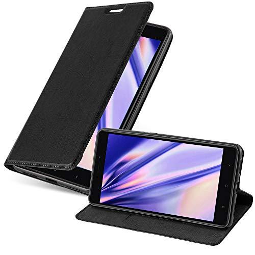 Cadorabo Funda Libro para Xiaomi Mi MAX 2 en Negro Antracita - Cubierta Proteccíon con Cierre Magnético, Tarjetero y Función de Suporte - Etui Case Cover Carcasa
