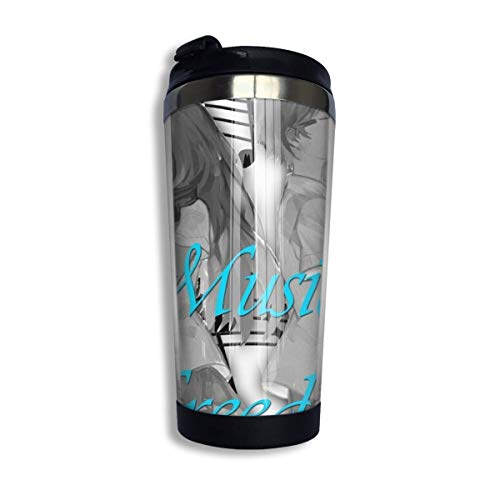 YHKC Taza de té, taza de viaje, taza de café, ventosa Music Is Freedom Coffee Travel Mug Cup Stainless Steel Vacuum Insulated Tumbler 13.5 Oz