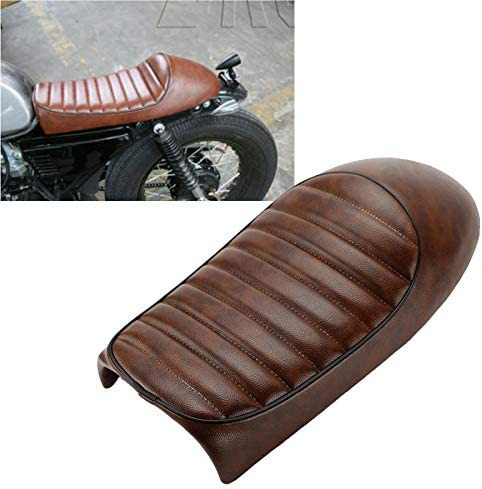 Motorcycle Vintage Saddle Custom Cafe Branded goods Seat Cushion Brown H Racer Under blast sales