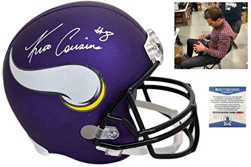 Signed Kirk Cousins Helmet - Beckett Authentic - Beckett Authentication - Autographed NFL Helmets