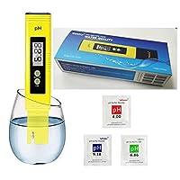 Ph Medidor Probador Digital Ph 0,01 Precisión Calidad del Agua probador con el ATC 0-14 Rango de medición Con la caja plástica para la casa Agua, hidroponía,acuarios, piscina, 6 pH del tampón paquetes