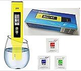 Digital tester del pHmetro 0,01Ph Precisione di qualità dell'acqua del tester con Atc 0-14Gamma di misura con scatola di plastica per Casa Acqua,coltura idroponica,6Ph Buffer pacchetti di calibrazione