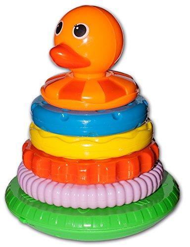 Diverse 1 x Stapelente Stapeln Ringe Baby Spielzeug Pyramide Kleinkindspielzeug Steckspielmit Musik