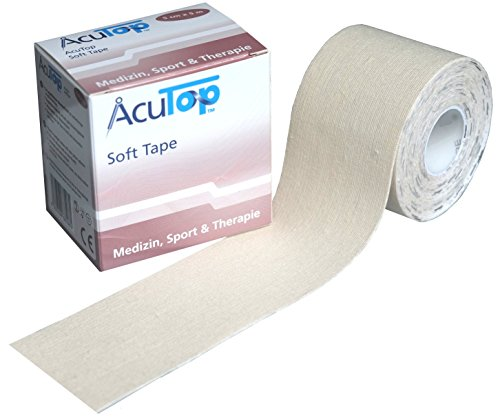 AcuTop Kinesiology Tape für Sport und Medizin in 9 Farben (Weiss ( Soft Tape ))
